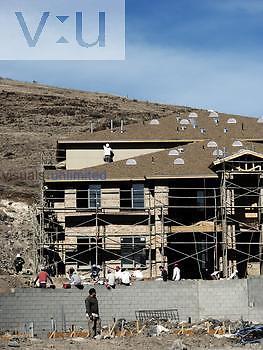 Apartment construction, urban sprawl, Prescott Valley, Arizona, USA.