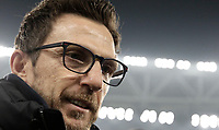 Calcio, Serie A: Juventus - AS Roma, Torino, Allianz Stadium, 23 dicembre, 2017. <br /> Roma's coach Eusebio Di Francesco reaches the bench before the start of the the Italian Serie A football match between Juventus and Roma at Torino's Allianz stadium, December 23, 2017.<br /> UPDATE IMAGES PRESS/Isabella Bonotto
