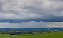 13/05/14<br /> <br /> Storm clouds gather over the Derbyshire Dales as seen from the Weaver Hills.<br /> <br /> All Rights Reserved - F Stop Press.  www.fstoppress.com. Tel: +44 (0)1335 300098