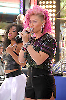 July 06, 2012  StayC  with Flo Rida perform at the Toyota Concert Series on the Today Show  in New York City.Credit:© RW/MediaPunch Inc. /*NORTEPHOTO* <br />