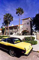 Rollsroyce parked outside private palace estate in Florida, USA