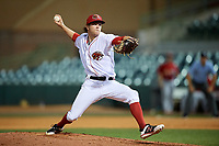 Florida Fire Frogs relief pitcher Sean McLaughlin (12) delivers a pitch during a game against the Palm Beach Cardinals on May 1, 2018 at Osceola County Stadium in Kissimmee, Florida.  Florida defeated Palm Beach 3-2.  (Mike Janes/Four Seam Images)