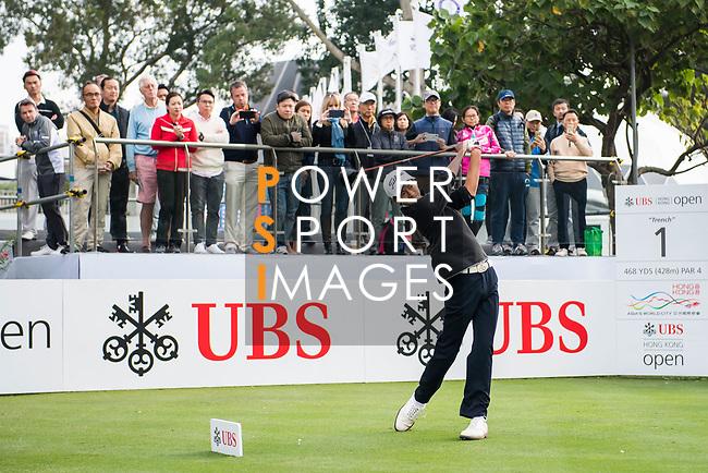 Taichi Kho of Hong Kong tees off during the day one of UBS Hong Kong Open 2017 at the Hong Kong Golf Club on 23 November 2017, in Hong Kong, Hong Kong. Photo by Marcio Rodrigo Machado / Power Sport Images