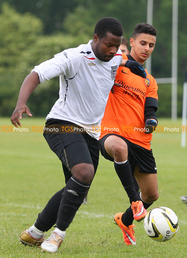Mustard (orange) vs Mile End (white) - Hackney & Leyton Sunday League Jack Walpole Cup Final Football at South Marsh, Hackney Marshes, London - on 31/05/15 - MANDATORY CREDIT: Dave Simpson/TGSPHOTO - Self billing applies where appropriate - 0845 094 6026 - contact@tgsphoto.co.uk - NO UNPAID USE