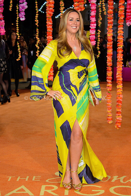 WWW.ACEPIXS.COM<br /> <br /> February 17 2015, London<br /> <br /> Claire Sweeney attending The Royal Film Performance and World Premiere of 'The Second Best Exotic Marigold Hotel' at Odeon Leicester Square on February 17, 2015 in London<br /> <br /> By Line: Famous/ACE Pictures<br /> <br /> <br /> ACE Pictures, Inc.<br /> tel: 646 769 0430<br /> Email: info@acepixs.com<br /> www.acepixs.com