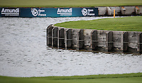 Waterside at the 18th hole during Round Two of the 100th Open de France, played at Le Golf National, Guyancourt, Paris, France. 01/07/2016. Picture: David Lloyd | Golffile.<br /> <br /> All photos usage must carry mandatory copyright credit (&copy; Golffile | David Lloyd)