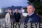 Dromid Pearses GAA club Treasurer Suzanne Ní Laoighre and Chairman Micheál Ó Síocháin, Chairman of the South Kerry Bord Diarmuid O'Sé.