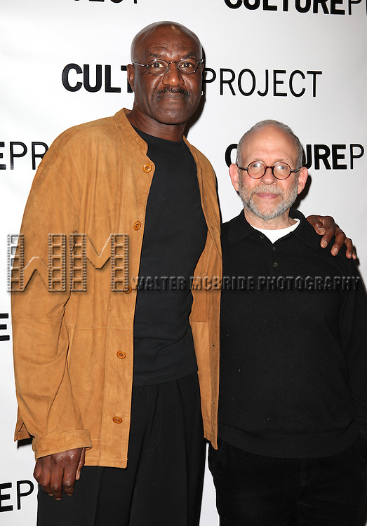 Delroy Lindo & Bob Balaban attending the after Party for 10th Anniversary Production of 'The Exonerated' at the Culture Project in New York City on 9/19/2012.