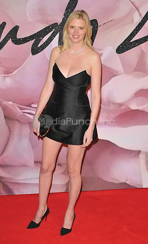 Lara Stone at the Fashion Awards 2016, Royal Albert Hall, Kensington Gore, London, England, UK, on Monday 05 December 2016. <br /> CAP/CAN<br /> ©CAN/Capital Pictures /MediaPunch ***NORTH AND SOUTH AMERICAS ONLY***
