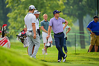 Jon Rahm (ESP), Justin Thomas (USA) during Friday's round 2 of the World Golf Championships - Bridgestone Invitational, at the Firestone Country Club, Akron, Ohio. 8/4/2017.<br /> Picture: Golffile | Ken Murray<br /> <br /> <br /> All photo usage must carry mandatory copyright credit (&copy; Golffile | Ken Murray)