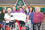 Pictured at the cheque presentation of EUR9,015, from the recent Honda 50 run in aid of the South Kerry Parkinson's Support group at the Old Killarney Inn, Aghadoe on Friday night were Catriona Morrissey, Grace  McCrae, Tom Coffey, Jack McCrae, Mike Gallagher, Seamie and Siu?n Morrissey, Niall Gallagher, Joanne Stoat, Ella Doyle and Pat McEnteggart.