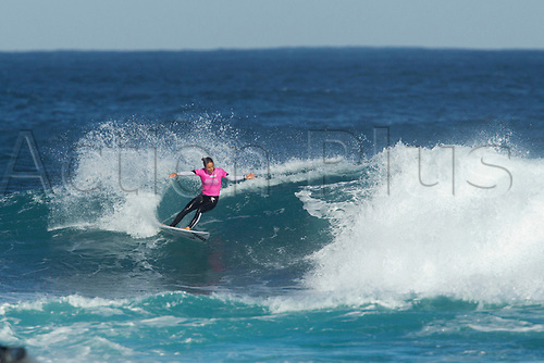 April 2nd 2017, Margaret River,  Perth, Western Australia;   The Drug Aware Margaret River Pro Surfing Competition; Sally Fitzgibbons (AUS) catches a wave during her heat on day 5 against Tatiana Weston-Web (HAW) Fitzgibbons won the heat