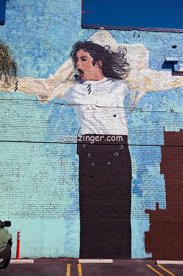 Michael Jackson,  Mural, Hollywood, ca ,Vertical image