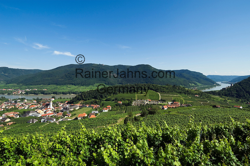 Austria, Lower Austria, Spitz at river Danube: wine growing region at UNESCO World Heritage Wachau