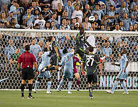 Eddie Johnson. Sporting Kansas City won the Lamar Hunt U.S. Open Cup on penalty kicks after tying the Seattle Sounders in overtime at Livestrong Sporting Park in Kansas City, Kansas.