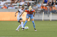 Houston, TX - Saturday July 16, 2016: Maureen Fitzgerald, Denise O'Sullivan during a regular season National Women's Soccer League (NWSL) match between the Houston Dash and the Portland Thorns FC at BBVA Compass Stadium.