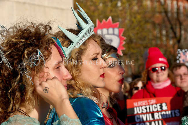 www.acepixs.com<br /> <br /> March 8 2017, New York City<br /> <br /> Protesters march during A Day Without A Woman Protest at Washington Square Park on March 8, 2017 in New York City<br /> <br /> By Line: Curtis Means/ACE Pictures<br /> <br /> <br /> ACE Pictures Inc<br /> Tel: 6467670430<br /> Email: info@acepixs.com<br /> www.acepixs.com
