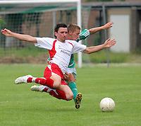 Dorsten, 25.05.2008: Fu&szlig;ball BVH Dorsten (in gr&uuml;n) - Spvgg Erkenschwick II,<br /> Foto: Rainer Raffalski