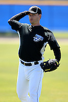 March 1, 2010:  Pitcher Jason Fraser (54) of the Toronto Blue Jays during practice at Englebert Complex in Dunedin, FL.  Photo By Mike Janes/Four Seam Images
