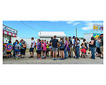 Kids of all ages enjoyed lined up for tickets to rides and amusement games during the Warren County Fair.