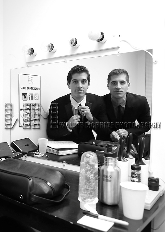 "Anthony Nunziata and Will Nunziata backstage before performing ""Broadway, Our Way"" at 54 Below on January 9, 2014 in New York City."