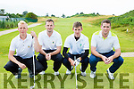 The Tralee team that played Killarney in the Barton Sheild in Dooks Golf course on Saturday l-r; Darren O'Sullivan, Fergal O'Sullivan, Joesph O'Neill and Eoin O'Donnell