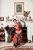 Dhanya Sandeep of Cary performs poses from the Odissi style of classical Indian dance.