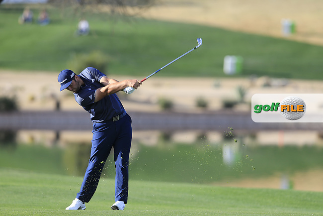Jon Rahm (ESP) on the 15th fairway during the 1st round of the Waste Management Phoenix Open, TPC Scottsdale, Scottsdale, Arisona, USA. 31/01/2019.<br /> Picture Fran Caffrey / Golffile.ie<br /> <br /> All photo usage must carry mandatory copyright credit (© Golffile | Fran Caffrey)