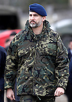Prince Felipe of Spain during military exercise - Spain