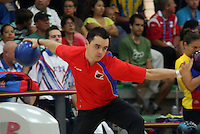 CALI -COLOMBIA-01-08-2013.  Santiago Mejía de Colombia durante su particiapción en la prueba de  Bolos en los Juegos Mundiales Cali 2013 realizado en la ciudad de Cali./ Santiago Mejia of Colombia during his participation in bowling competition in the World Games Cali 2013 at Cali city  Photo: VizzorImage/Juan C. Quintero/STR