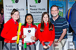 Holy Cross NS pupils Ciara O'Sullivan, Orin Ahmed and kinga Macherzynska with Pat O'Brien at  Kerry Expo in Killarney Community College on Friday Evening