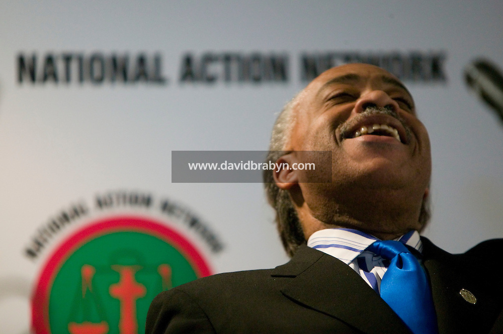 19 April 2007 - New York City, NY - Reverend Al Sharpton reacts to New Mexico Governor and presidential hopeful Bill Richardson's (not pictured) speech to attendants to the 9th annual National Action Network convention in New York City, USA, 19 April 2007.
