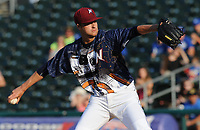 NWA Democrat-Gazette/ANDY SHUPE<br /> Northwest Arkansas Naturals starter Ashton Goudeau delivers to the plate against the Arkansas Travelers Saturday, June 10, 2017, during the first inning at Arvest Ballpark in Springdale. Visit nwadg.com/photos to see more photographs from the game.