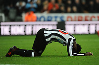 A frustrated Christian Atsu of Newcastle United during Newcastle United vs Swansea City, Premier League Football at St. James' Park on 13th January 2018