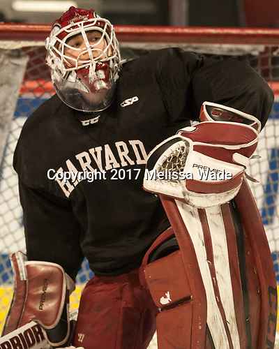 Cameron Gornet (Harvard - 32) - The Harvard University Crimson practiced at the United Center on Wednesday, April 5, 2017, in Chicago, Illinois.