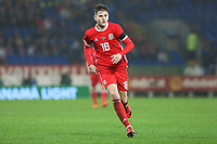 David Brooks of Wales during the International Friendly match between Wales and Panama at The Cardiff City Stadium, Wales, UK. Tuesday 14 November 2017