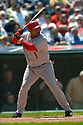Bengie Molina of the Los Angeles Angels in action against the Cleveland Indians. ....Angels won 2-1.....David Durochik / SportPics..