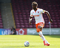 Blackpool's Armand Gnanduillet in action<br /> <br /> Photographer David Shipman/CameraSport<br /> <br /> The EFL Sky Bet League One - Scunthorpe United v Blackpool - Friday 19th April 2019 - Glanford Park - Scunthorpe<br /> <br /> World Copyright © 2019 CameraSport. All rights reserved. 43 Linden Ave. Countesthorpe. Leicester. England. LE8 5PG - Tel: +44 (0) 116 277 4147 - admin@camerasport.com - www.camerasport.com