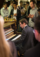 Jean-Baptiste Franck (pianist) during an evening (une soirée) hosted by Yves Riquet, at Paris Boogie Speakeasy, 256 Rue Marcadet, Paris as a fairwell party for Christian (American military defence) and Bridget Griggs prior to their return to America, following their three year posting to Paris. Jazz was played by Christopher Benz, Jean-Baptiste Franc, Stephane Lébé, Nirek Mokar and others, and sung by Gabrielle Jeanselme and Laure Poasevara. Sunday 23rd June 2013.