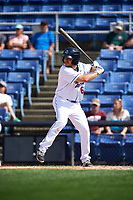 Binghamton Rumble Ponies pinch hitter Patrick Biondi (6) at bat during a game against the Hartford Yard Goats on July 9, 2017 at NYSEG Stadium in Binghamton, New York.  Hartford defeated Binghamton 7-3.  (Mike Janes/Four Seam Images)