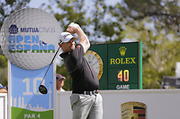 David Drysdale (SCO) on the 10th tee during the second round of the Mutuactivos Open de Espana, Club de Campo Villa de Madrid, Madrid, Madrid, Spain. 04/10/2019.<br /> Picture Hugo Alcalde / Golffile.ie<br /> <br /> All photo usage must carry mandatory copyright credit (© Golffile | Hugo Alcalde)