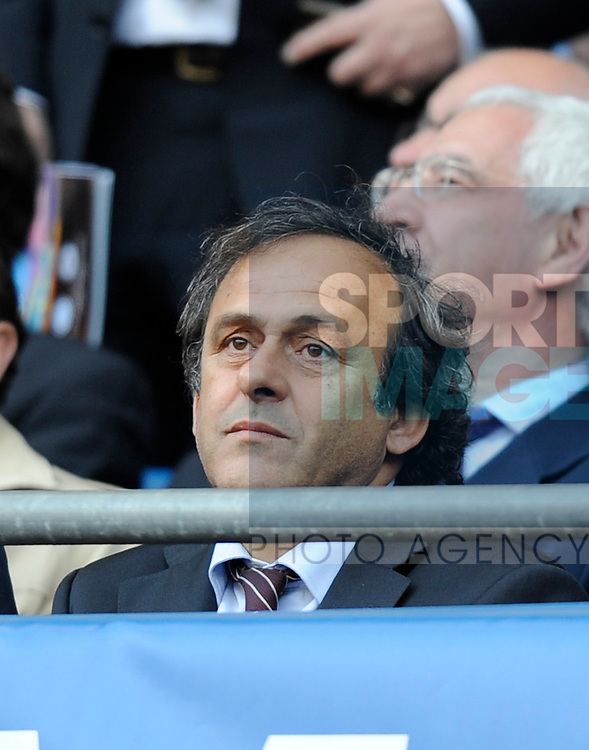 UEFA President Michel Platini during the Europa League Final match at The Etihad Stadium, Manchester. Picture date 14th May 2008. Picture credit should read: Simon Bellis/Sportimage