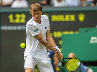 London, England, 3 th July, 2017, Tennis,  Wimbledon, Alexander Bublik (KAZ) in his opening match against Andy Murray (GBR)<br /> Photo: Henk Koster/tennisimages.com