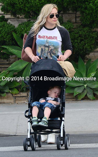 Pictured: Hilary Duff, Luca <br /> Mandatory Credit &copy; RDLA/Broadimage<br /> Hilary Duff and Luca out and about in Beverly Hills <br /> <br /> 3/29/14, Beverly Hills, California, United States of America<br /> <br /> Broadimage Newswire<br /> Los Angeles 1+  (310) 301-1027<br /> New York      1+  (646) 827-9134<br /> sales@broadimage.com<br /> http://www.broadimage.com
