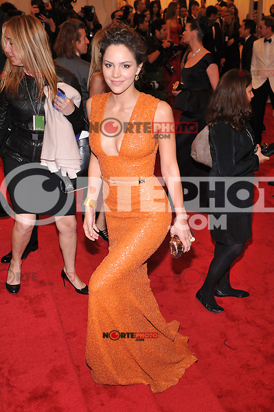 Katharine McPhee at the 'Schiaparelli And Prada: Impossible Conversations' Costume Institute Gala at the Metropolitan Museum of Art on May 7, 2012 in New York City. © mpi03/MediaPunch Inc.