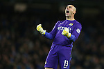 Willy Caballero of Manchester City celebrates his sides fourth goal - Manchester City vs Hull City - Capital One Cup - Etihad Stadium - Manchester - 01/12/2015 Pic Philip Oldham/SportImage