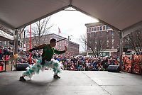 Martial Arts, Chinese Lunar New Year, Chinatown, Seattle, WA, USA.