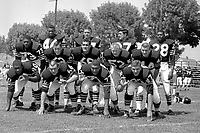 1960 Oakland Raiders defense..photo 1960/Ron Riesterer
