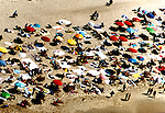 Aerial View of Crowded beach
