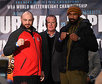 BROOKLYN - JANUARY 24: Boxers Adam Kownacki and Gerald Washington attend a press conference for the January 26 PBC on FOX fight card at Barclays Arena on January 24, 2019, in Brooklyn, New York. (Photo by Frank Micelotta/Fox Sports/PictureGroup)